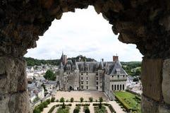 El castillo francés real de Langeais, el Loira imagenes de archivo