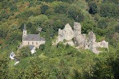 El castillo histórico Isenburg en Renania-Palatinado, Alemania Imágenes de archivo libres de regalías