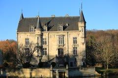 El castillo histórico Schaloen, los Países Bajos Foto de archivo