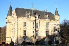 El castillo histórico Schaloen, los Países Bajos Imagen de archivo libre de regalías