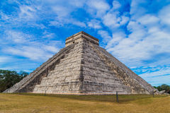 El Castillo (The Kukulkan Temple) of Chichen Itza, mayan pyramid in Yucatan, Mexico Royalty Free Stock Images