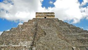 Chichen ITza mayan pyramid in the Yucatan. El Castillo The Kukulkan Temple of Chichen Itza, mayan pyramid in Yucatan, Mexico. It`s one of the new 7 wonders of Royalty Free Stock Photo