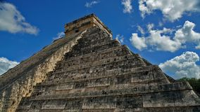 Chichen Itza, mayan pyramid in Yucatan, Mexico. It`s one of the. El Castillo The Kukulkan Temple of Chichen Itza, mayan pyramid in Yucatan, Mexico. It`s one of Royalty Free Stock Images