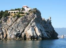 El castillo llamó la jerarquía del trago en Crimea el Mar Negro Fotografía de archivo