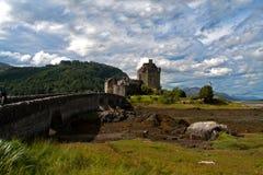Castillo de Eilean Donan en Escocia Imagenes de archivo