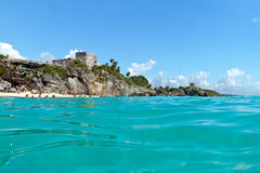 El Castillo in Tulum, Mexico Stock Image