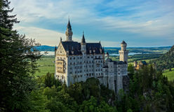 El castillo majestuoso de Neuschwanstein Foto de archivo libre de regalías