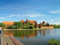 El castillo Malbork Imágenes de archivo libres de regalías