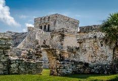 El Castillo - Mayan Ruins of Tulum, Mexico Stock Photos