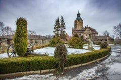 El castillo medieval Czocha situado en la ciudad de Sucha imágenes de archivo libres de regalías
