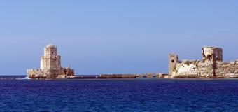El castillo medieval en Methoni fotografía de archivo libre de regalías