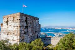 El castillo moro, Gibraltar imagen de archivo