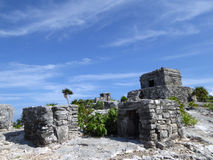El Castillo and Other Mayan Temples in Tulum Stock Photos