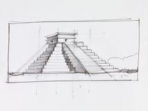 El Castillo pyramid Stock Photo
