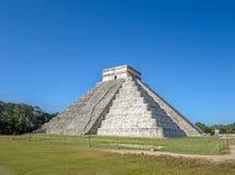 El Castillo pyramid of Chichen itza ancheological site. In Yucatan, Mexico Stock Images