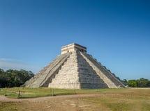 El Castillo pyramid of Chichen itza ancheological site in Yucata. N, Mexico Stock Images