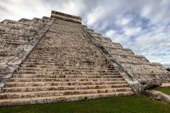 El Castillo pyramid in Chichen Itza Stock Photo