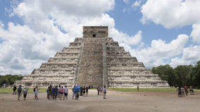 El Castillo Pyramid in Chichen Itza Stock Image
