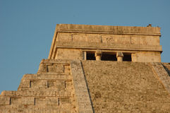 El Castillo pyramid's head Royalty Free Stock Photos