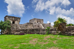 El Castillo pyramid in Tulum Royalty Free Stock Photography
