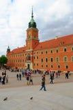 El castillo real en Varsovia, Polonia fotos de archivo