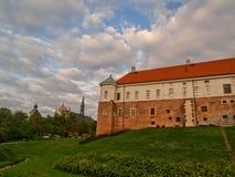 El castillo real viejo en Sandomierz, Polonia Imagen de archivo libre de regalías