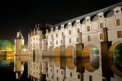 El castillo romántico de Chenonceau imagen de archivo libre de regalías