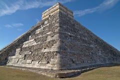 EL Castillo - tempiale di Kukulkan, Chichen Itza Fotografie Stock Libere da Diritti