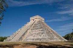 EL Castillo - tempiale di Kukulkan, Chichen Itza Immagini Stock Libere da Diritti