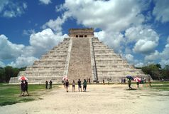 El Castillo. Temple of Kukulcan, Chichen Itza, Mexico Royalty Free Stock Photo