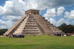 El Castillo. Temple of Kukulcan, Chichen Itza, Mexico Royalty Free Stock Photos