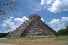 El Castillo. The Temple of Kukulcan. Mesoamerican step pyramid in Chichen Itza, Yucatan, Mexico Royalty Free Stock Images