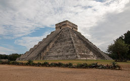 El Castillo Temple Kukulcan Pyramid at Mexico's Chichen Itza Mayan ruins Royalty Free Stock Photography