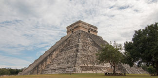 El Castillo Temple Kukulcan Pyramid at Mexico's Chichen Itza Mayan ruins Stock Images