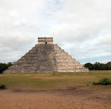 El Castillo Temple Kukulcan Pyramid at Mexico's Chichen Itza Mayan ruins Stock Image