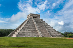 El Castillo or Temple of Kukulkan pyramid, Chichen Itza, Yucatan Stock Image
