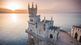 El castillo traga la jerarquía en Yalta en la Crimea almacen de video