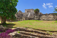 El Castillo in Tulum Royalty Free Stock Image