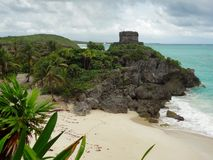 El Castillo at Tulum Royalty Free Stock Photos
