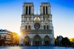 El Cathédrale Notre Dame de Paris Imagen de archivo libre de regalías