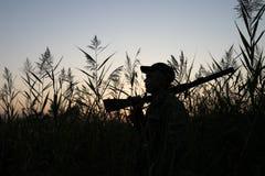 El cazador foto de archivo