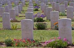 El cementerio británico en Be'er Sheva Fotos de archivo