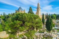 El cementerio cristiano Fotografía de archivo