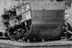 El cementerio de la nave Fotografía de archivo