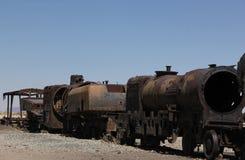 El cementerio del tren en Bolivia foto de archivo libre de regalías