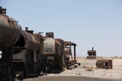 El cementerio del tren en Bolivia fotografía de archivo libre de regalías