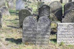 El cementerio judío viejo en la ciudad de Horice está muy grande y bien conservado Fotografía de archivo libre de regalías