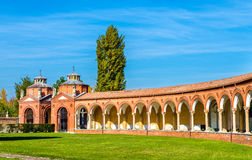 El cementerio monumental de Certosa - Ferrara imagen de archivo