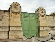 El cementerio Pere Lachaise de la entrada en París Fotografía de archivo