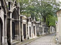 El cementerio Pere Lachaise en París Foto de archivo